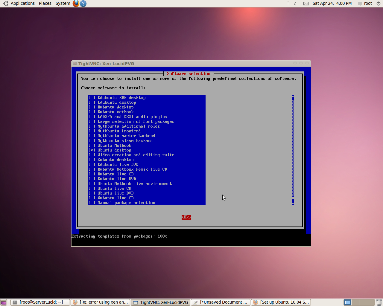 Set up Ubuntu 10 04 Server PV DomU at Xen 4 0 Dom0 (pvops