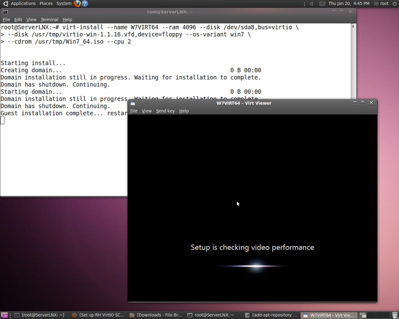Virtio install Windows 7 KVM (x64/x86) on Ubuntu 10 04 1