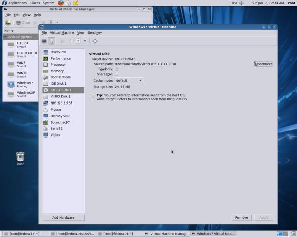 Set up RH VirtIO SCSI&Network drivers on Windows 7, Windows