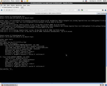 Running F19 instance routed to orinal LAN as external